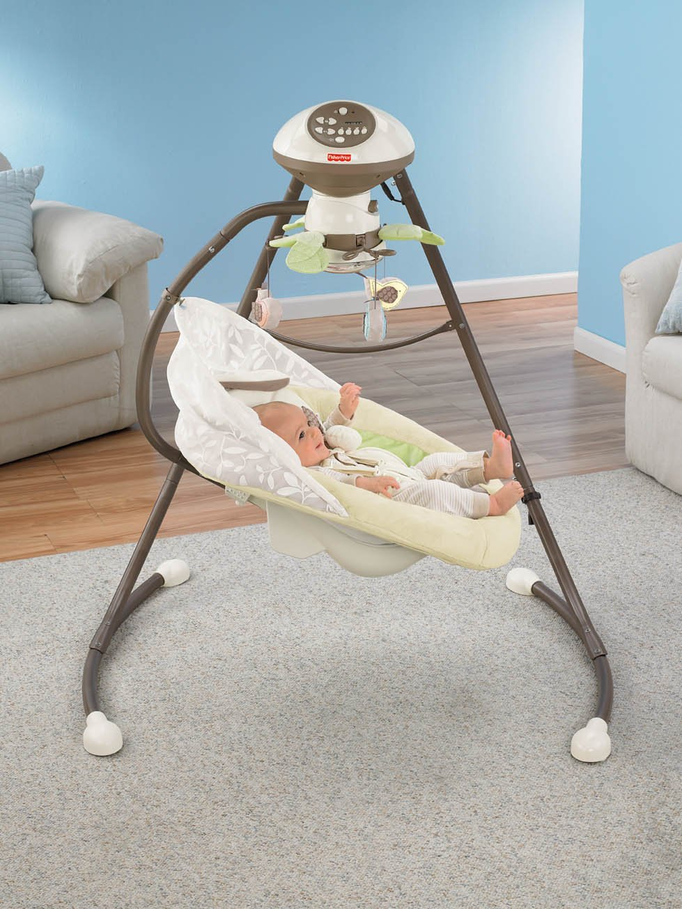With Smart Swing Technology Fisher-Price Snugabunny Cradle N Swing